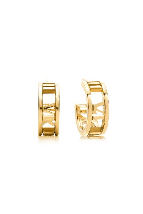 Tiffany 18K金圓環耳環