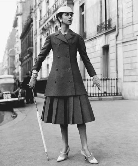 Christian Dior于1955年推出的A-Line套装