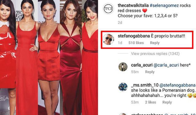 """今年6月,他曾在instagram一场话题讨论中评价美国歌手赛琳娜·戈麦斯""""非常丑陋"""""""