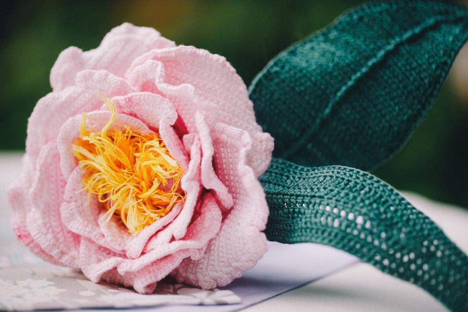 唯美又不会凋零的手织手捧花