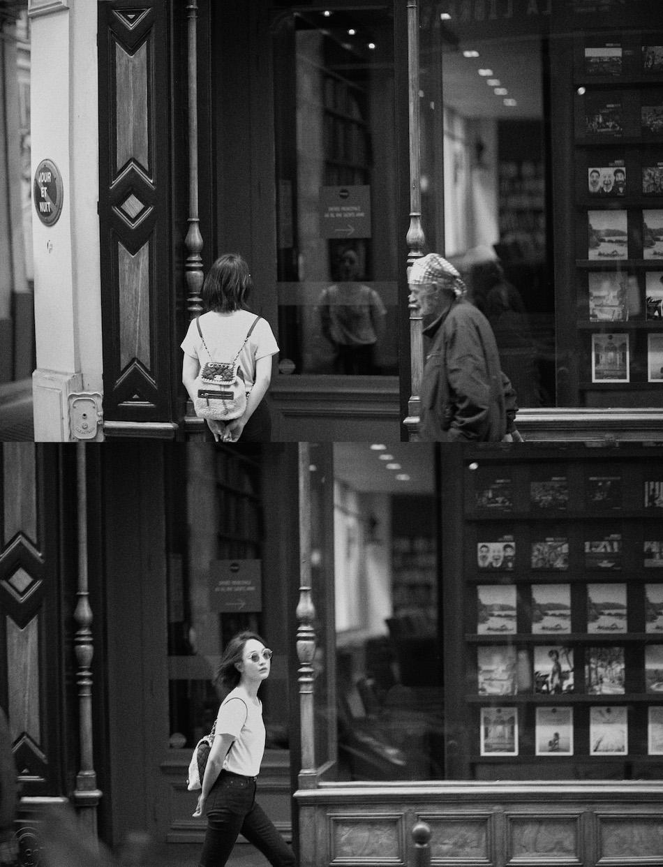 周迅简约搭配漫步巴黎街头 慵懒率性自在如风
