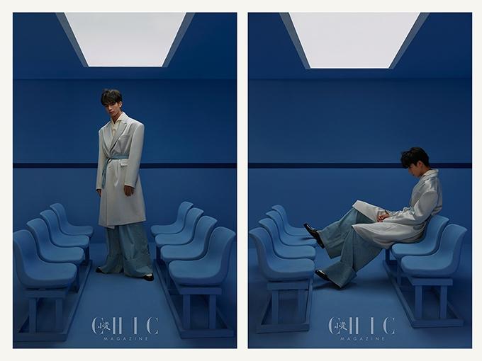"""宋威龙杂志大片演绎""""蓝""""朋友 站在多个路口寻找不同面"""
