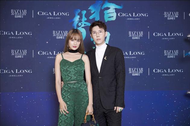 左起:演员_胡龄萌、Ciga Long品牌创始人兼珠宝设计师_龙梓嘉