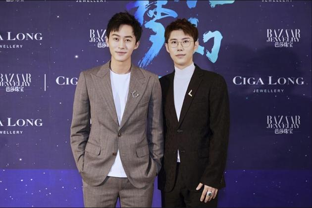 左起:演员_付嘉、Ciga Long品牌创始人兼珠宝设计师_龙梓嘉