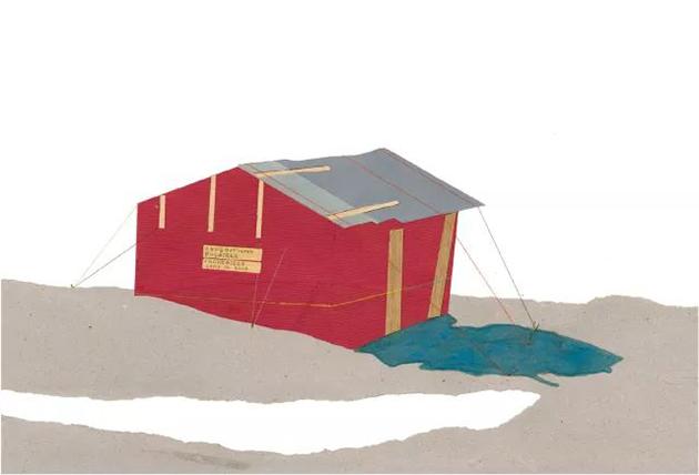 布莱斯·德拉蒙德作品《保尔-埃米尔·维克多极地考察营地小屋;维克多港》
