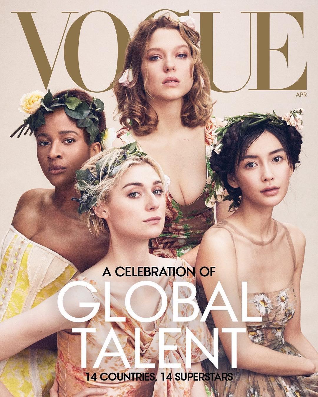 VOGUE杂志美国版四月刊封面