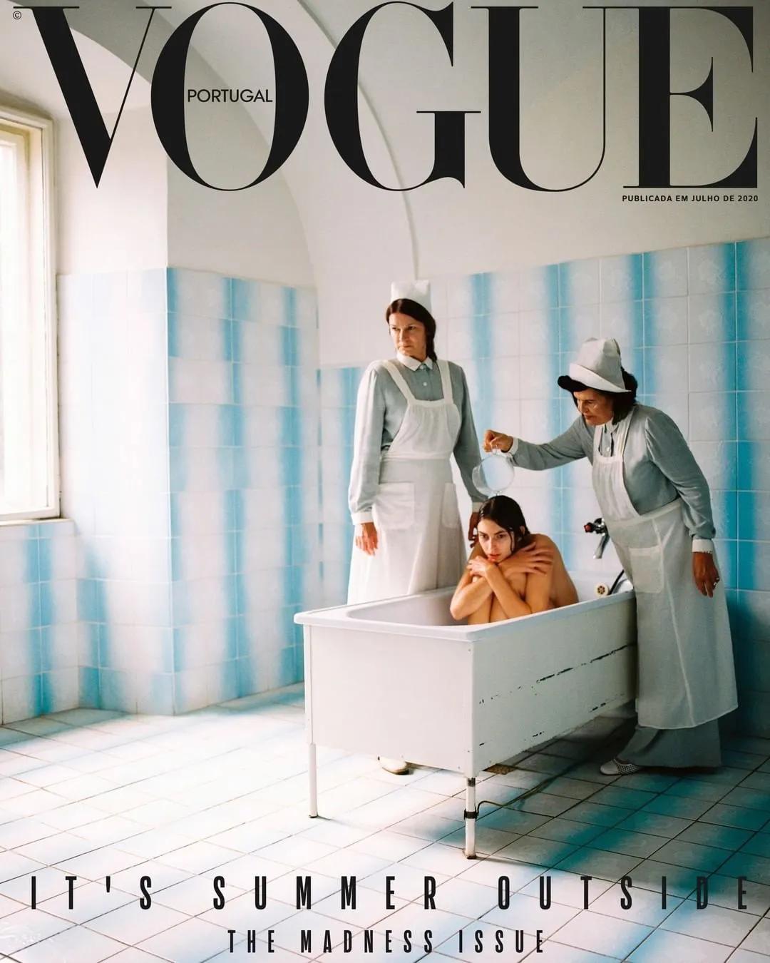 """葡萄牙版Vogue封面引争议 被批评""""将精神病塑造成美学"""""""
