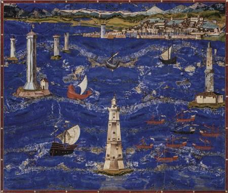 """17世纪蓝色的海水""""里窝那港风景"""""""