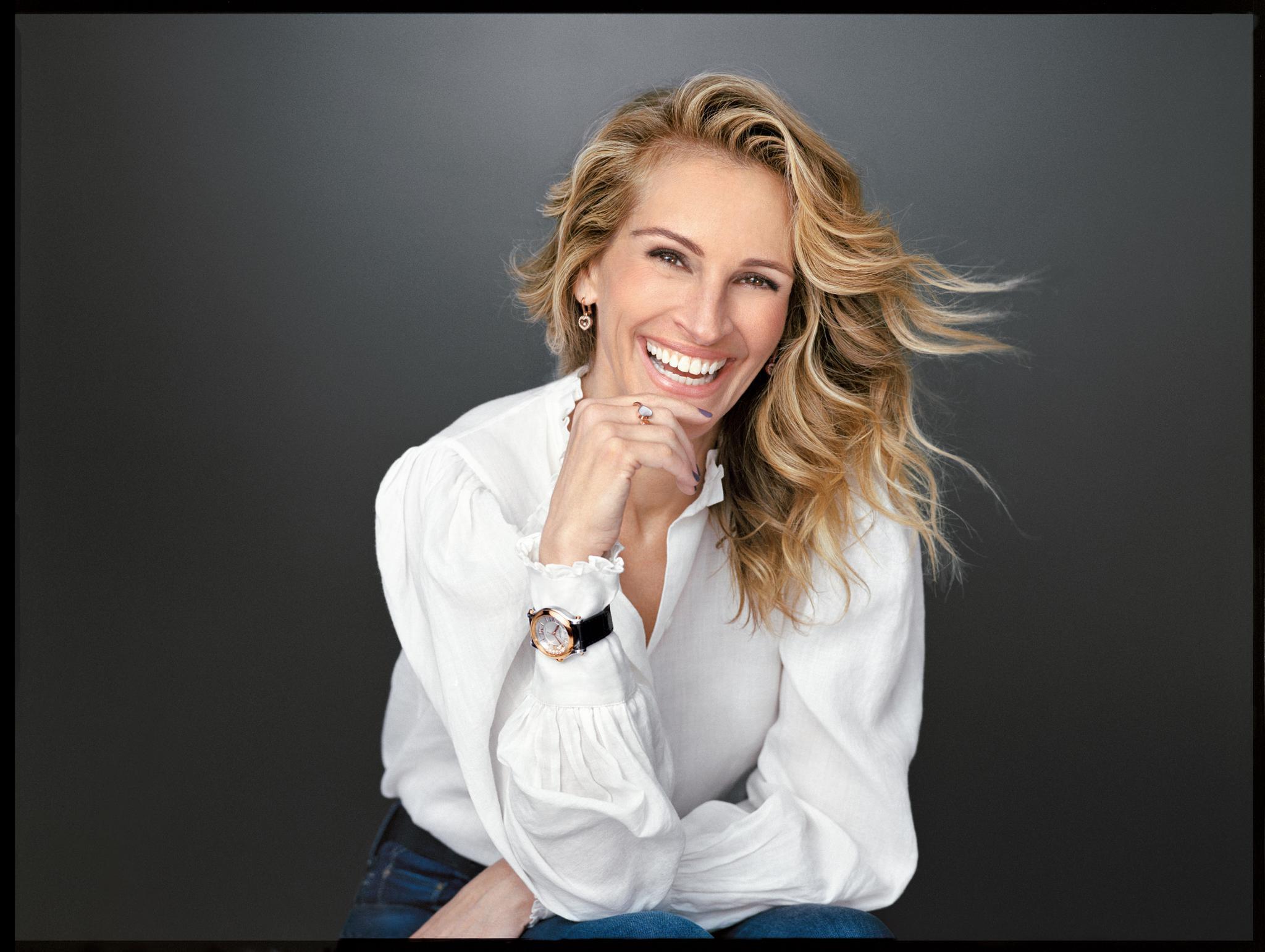 朱莉娅·罗伯茨 钟情Happy Sport系列腕表 尽享生命喜悦的欢欣邂逅