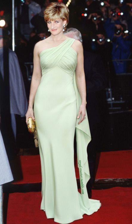 戴安娜王妃穿薄荷绿礼服