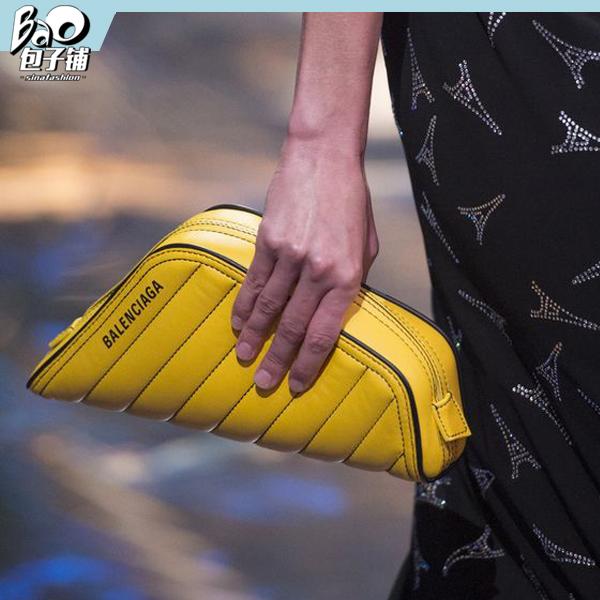 Balenciaga黄色几何包包