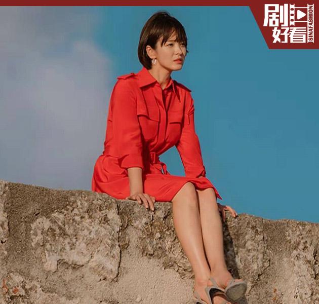 宋慧乔穿红裙
