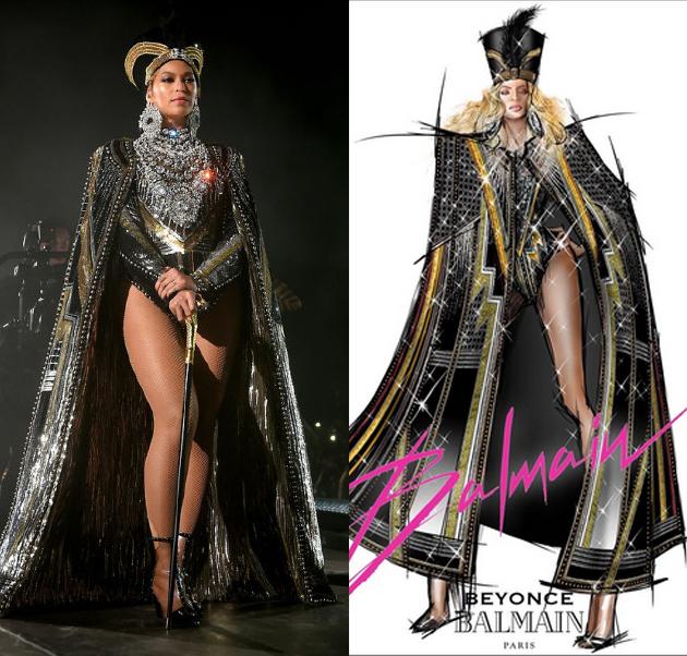 Beyonce为Coachella音乐节开场表演 秒换5套时装
