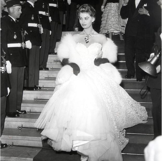 1955年,索菲亚 罗兰在电影节中