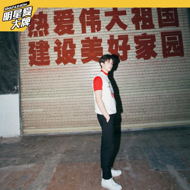 吴磊演绎早春型男搭配