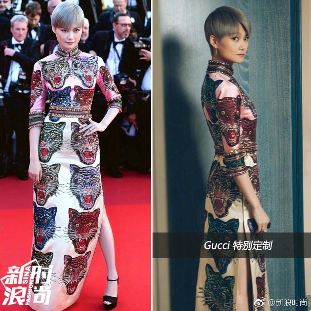 李宇春亮相了影片了《玉子》首映红毯