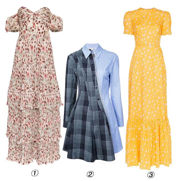 印花格纹裙装单品推荐