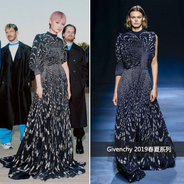 李宇春穿Givenchy长裙