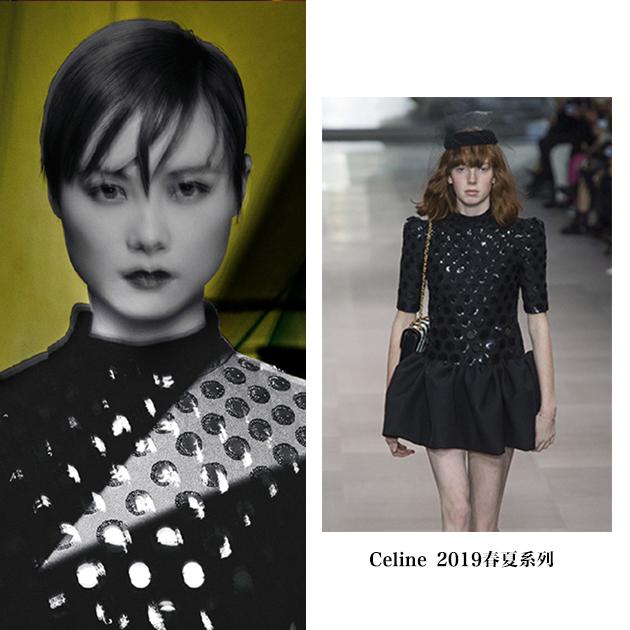 李宇春穿Celine黑色短裙