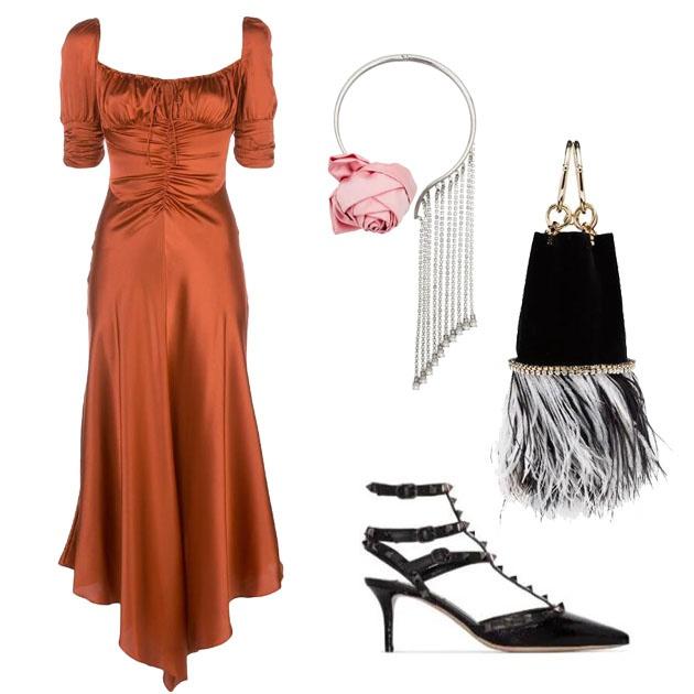 復古女神範紅裙搭配推薦