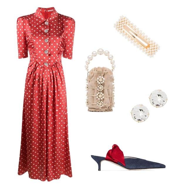 可愛風紅裙搭配