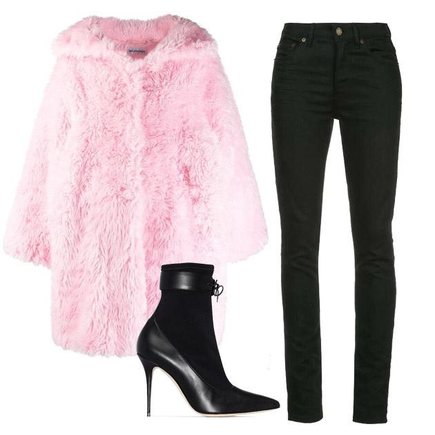 少女感彩色羊羔毛外套搭配推薦