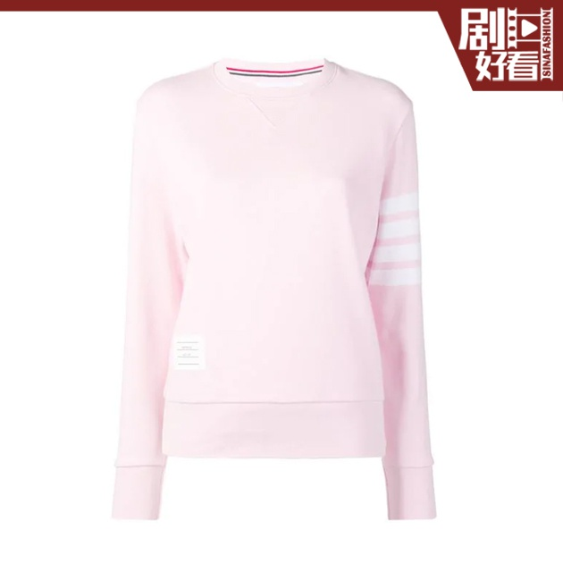 THOM-BROWNE-經典-4-條紋回型織衛衣