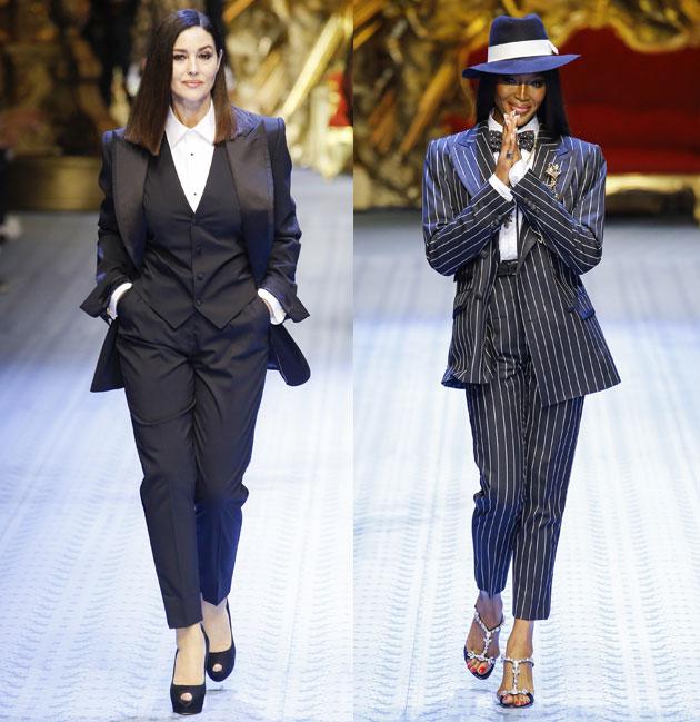 意大利国宝级女星莫妮卡・贝鲁奇和传奇超模娜奥米・坎贝尔同时惊喜现身