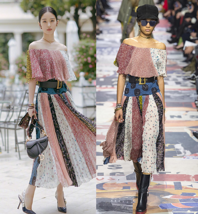 蕾丝配高靴别有风情 雨中巴黎Dior上演女性宣言