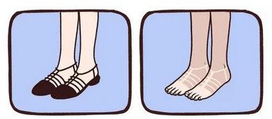 穿凉鞋的尴尬