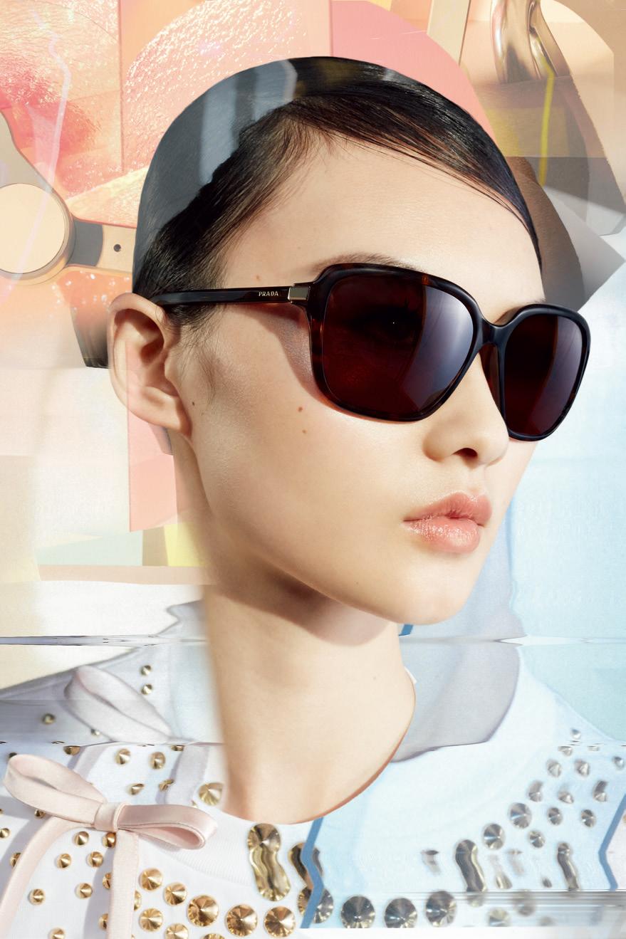 流动现实PRADA EYEWEAR推出全新眼镜 贺聪演绎广告大片眼镜Prada