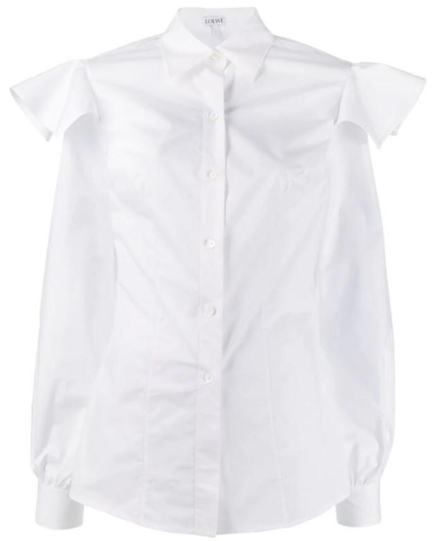 LOEWE 荷葉邊細節襯衫