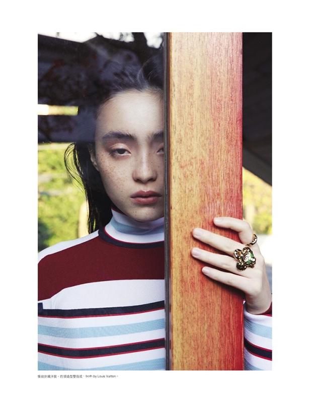 日本模特世理奈拍摄时装大片