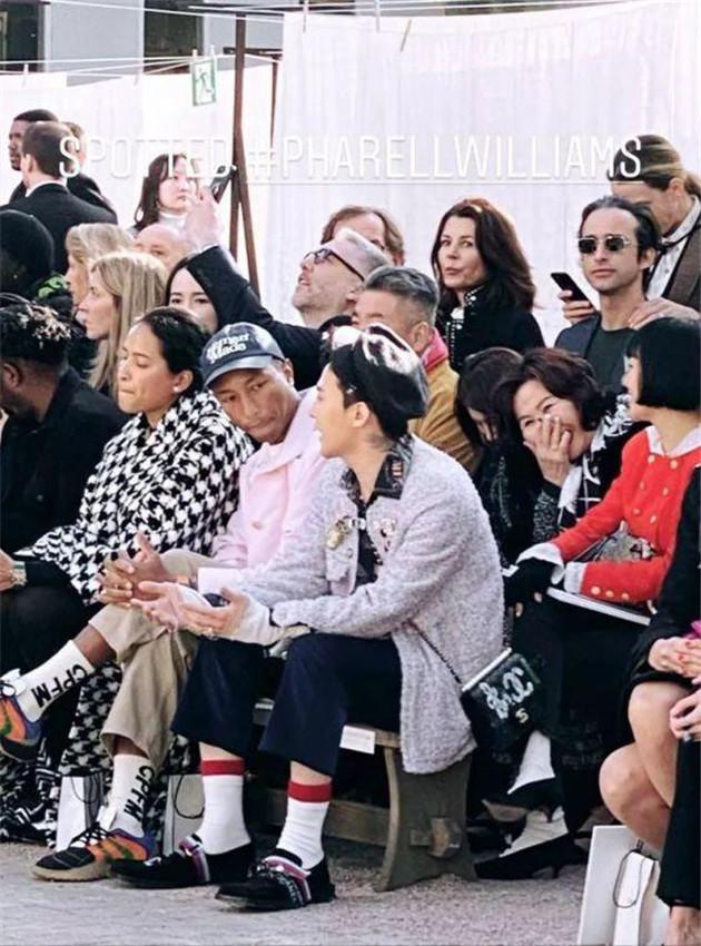 Chanel高定秀場權志龍和菲董排排坐