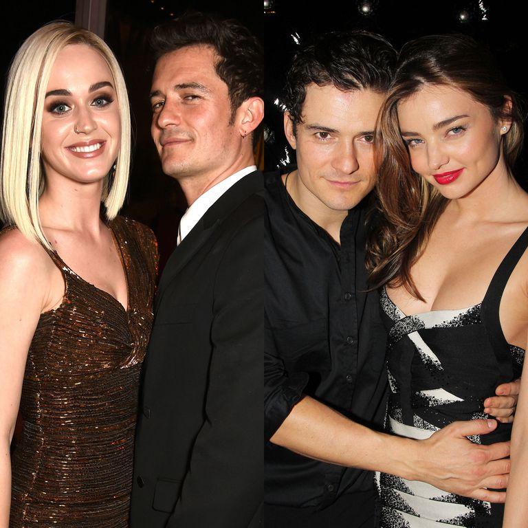 左:奥兰多与未婚妻Katy Perry;右:奥兰多与前妻米兰达可儿