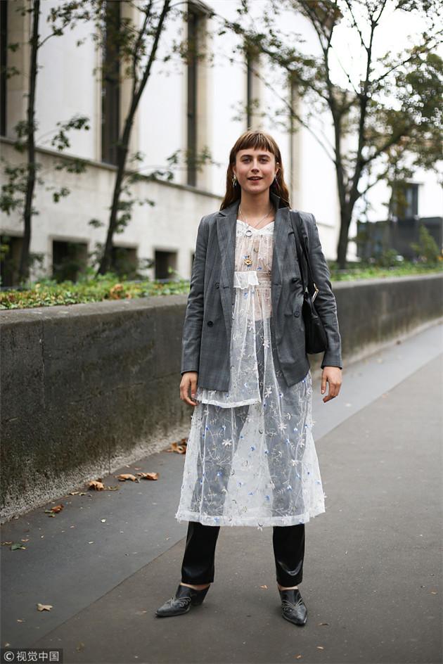 纱裙的裙裤叠穿