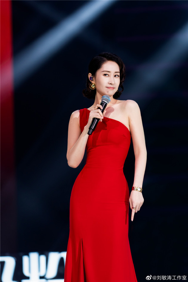 劉敏濤紅裙造型