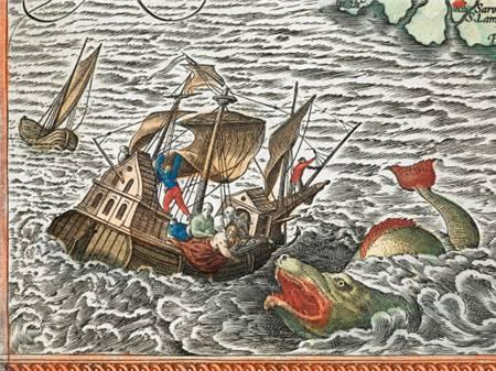 中世纪地图 水是深绿色的