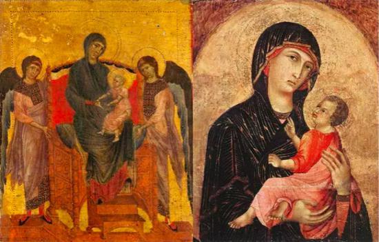 ▲文艺复兴早期,《圣母子女图》