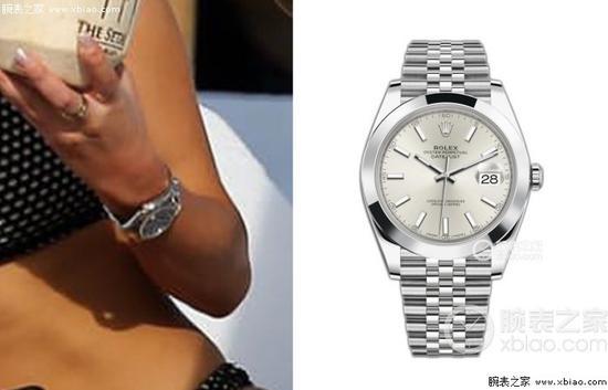 朋友佩戴的也是一款劳力士日志型腕表