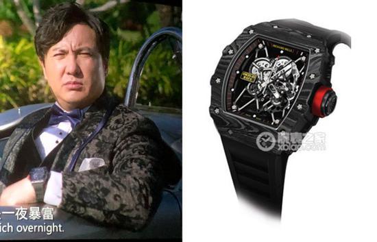 沈腾扮演的王多鱼在剧中佩戴里查德米尔男士系列RM 35-01 RAFAEL NADAL腕表
