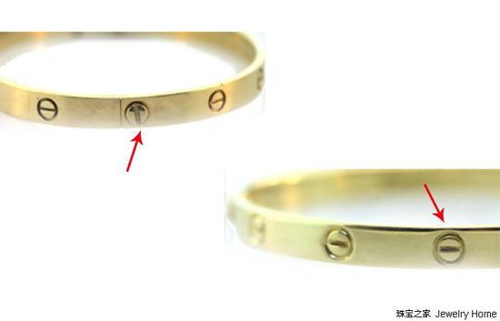 右边仿版手镯上螺旋的位置不准确