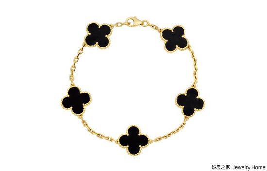 Van Cleef & Arpels梵克雅宝Alhambra系列 黑玛瑙手链