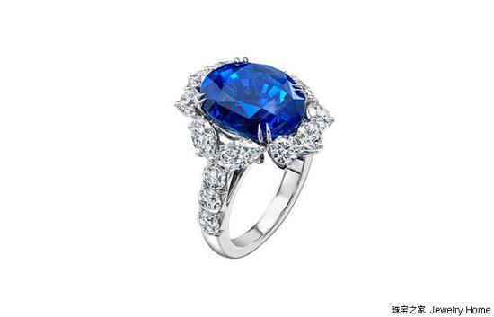 Harry Winston海瑞温斯顿蓝宝石戒指