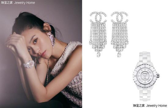 Chanel 香奈儿J12白色陶瓷腕表Chanel 香奈儿 服饰流苏耳环