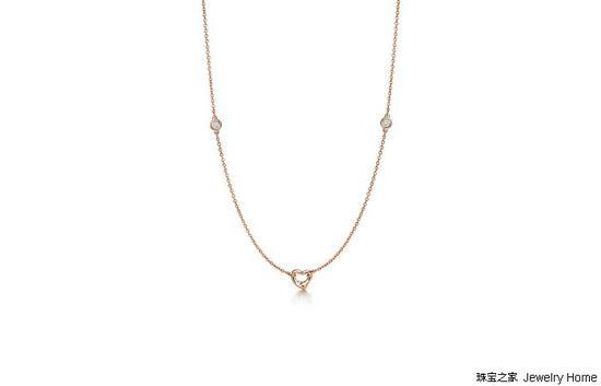 Tiffany & Co. 蒂芙尼 Elsa Peretti™系列 Open Heart限量版项链 长度45.72cm
