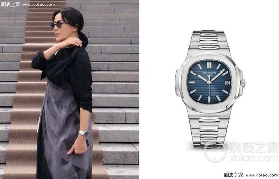 刘嘉玲佩戴百达翡丽运动系列5711不锈钢腕表