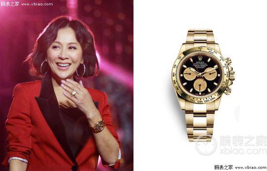 刘嘉玲佩戴劳力士宇宙计型迪通拿系列m116508-0009腕表