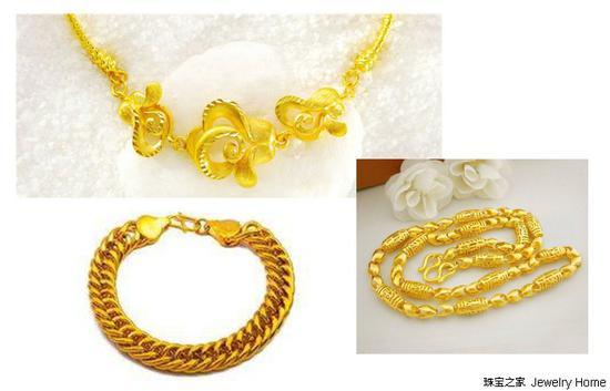 金店里常见的黄金首饰