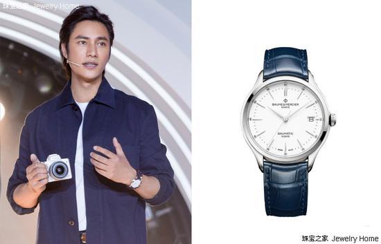 陈坤在佳能相机广告拍摄现场佩戴Baume & Mercier名士腕表
